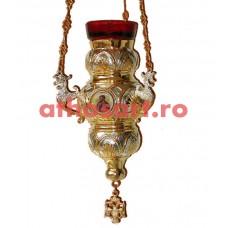 Candela Imparateasca aurita si argintata cu icoane (17x23 cm) cod K199