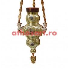 Candela Imparateasca aurita si argintata cu icoane (21x32 cm) cod K200