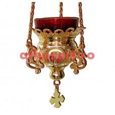 Candela Imparateasca aurita cu icoane (11x10 cm) cod K201