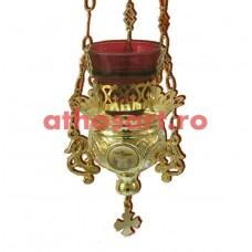 Candela Imparateasca aurita si argintata cu icoana (13x13 cm) cod K202