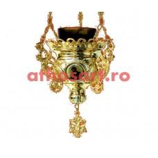 Candela Imparateasca aurita si argintata cu icoane (16x14 cm) cod K203