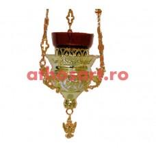Candela Imparateasca aurita si argintata (13x13 cm) cod K208D