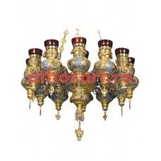 Candela cu 13 brate argintata si aurita (60x90 cm) cod 48-309