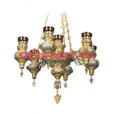 Candela aurita si argintata cu 7 brate (60x90 cm) cod 48-310