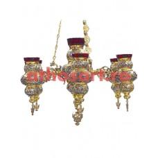 Candela aurita si argintata cu 7 brate (60x90 cm) cod 48-313