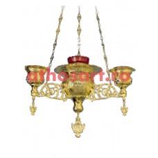 Candela aurita cu 4 brate (44x70+65x70 cm) cod 49-315