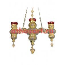 Candela aurita si argintata cu 4 brate (65x90 cm) cod 49-318