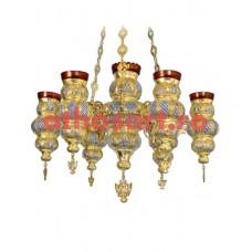 Candela aurita si argintata cu 7 brate (65x90 cm) cod 49-320