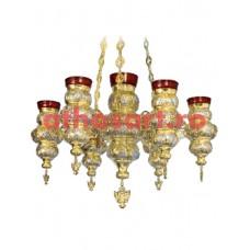 Candela aurita si argintata cu 7 brate (65x90 cm) cod 49-321