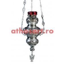 Candela Imparateasca argintata cu pietre rosii (15x32 cm) cod S1002-09SS