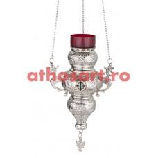 Candela Imparateasca argintata cu medalion email (24 cm) P43-189N24