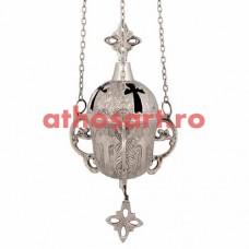 Candela Imparateasca argintata (17 cm) cod P34-277N