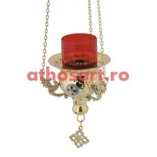 Candela Imparateasca aurita cu medalion email (12 cm) cod P35-9544B