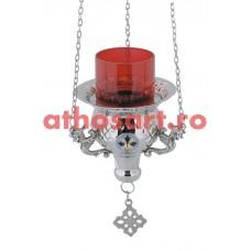 Candela Imparateasca argintata cu medalion email (12 cm) cod P35-9544N