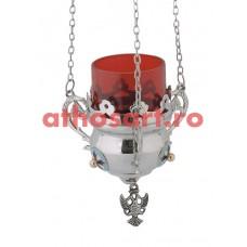 Candela Imparateasca argintata cu medalion email (10 cm) cod P41-9569N