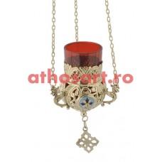 Candela Imparateasca aurita cu medalion email (11 cm) cod P40-9685B