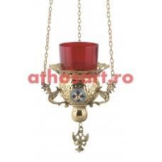 Candela Imparateasca aurita cu medalion (10 cm) cod P34-9771B