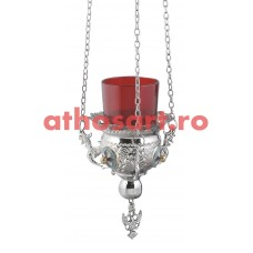 Candela Imparateasca argintata (10 cm) cod P34-9771N