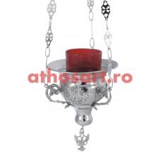 Candela Imparateasca argintata (12 cm) cod P35-9899N