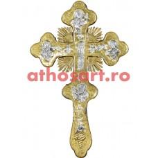 Cruce Binecuvantare aurita si argintata (17x29 cm) cod 56-389