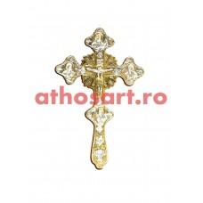 Cruce Binecuvantare aurita si argintata(18.5x30 cm) cod K305