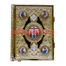 Evanghelie aurita si argintata (27x35 cm) cod K102-90DVP