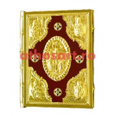 Evanghelie catifea cu medalion email (35x27.5 cm) cod K102-11
