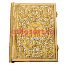 Evanghelie aurita si argintata (36x26 cm) cod KP102-12D
