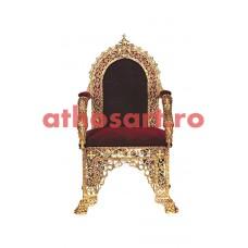Scaun Arhieresc aluminiu aurit (55x61x115 cm) cod 99-692