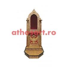 Scaun Arhieresc aluminiu aurit (72x122x170 cm) cod 99-693