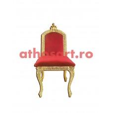 Scaun Arhieresc aurit si patinat (50x50x95 cm) cod K184-11