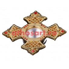 Steluta (capsula) pentru Sfinte Moaste (3.5x3.5 cm) cod SR1